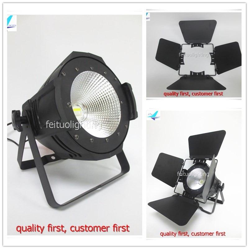 6pcs/lot Barndoor 150w Strobe COB LED Par Light RGBW 4IN1/Warm White/Cool White Bright Lighting 150w Show DJ Disco Stage Par Can