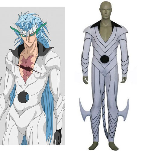 Anime Bleach Cosplay - Bleach Grimmjow Jeagerjaques Pantera Form Men's Cosplay Costumes for Halloween/Cosplay party Freeshipping