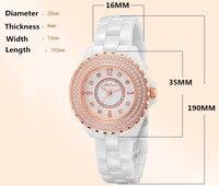 MELISSA Brand Designer Full Ceramic Bracelet Watch Healthy Anti Allergy Women Dress Wristwatch Crystals Reloj Montre
