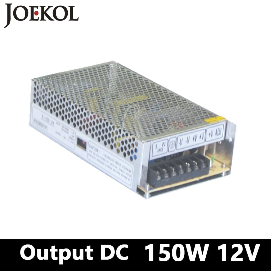 Switching Power Supply 150W 12v 12.5A,Single Output Watt Power Supply For Led Strip,AC110V/220V Transformer To DC 12V meanwell 12v 350w ul certificated nes series switching power supply 85 264v ac to 12v dc