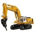 1: 87 Escala Crawler Escavadeira Hidráulica de Veículo de Engenharia Liga Caminhão Modelo Diecast Toy Collectible Presente para Crianças
