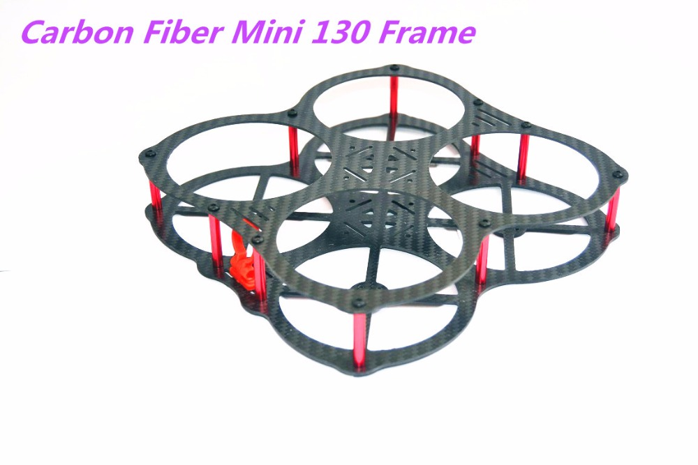Pure Carbon Fiber Mini 130mm 130 Frame DIY FPV Racing Quadcopter MM130 For <font><b>3045</b></font> 3030 3 / 4 blade <font><b>propeller</b></font> image
