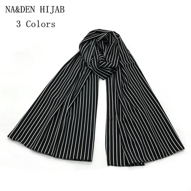 1PC NEW Bohemian Style Scarf Black And White Striped Geometric Shawl Women Vintage Wrap Fashion Hijab Soft Scarves Brand Soft