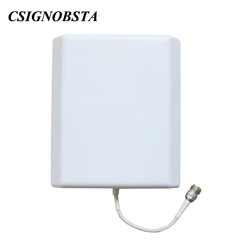 Amplificateur de téléphone portable gsm 3g à double bande d'affichage à cristaux liquides à gain élevé avec l'antenne de panneau répéteur gsm900 wcdma 2100 mhz pour l'amplificateur à la maison - 4