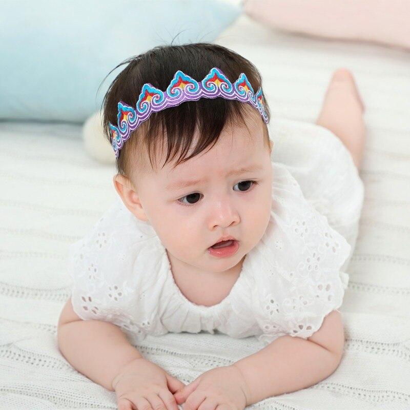 2019 Baby Mädchen Hand Made Gestickte Print Design Familie Passenden Stirnband Headwear Bekleidung Kranz Fotografie Prop Party Geschenk