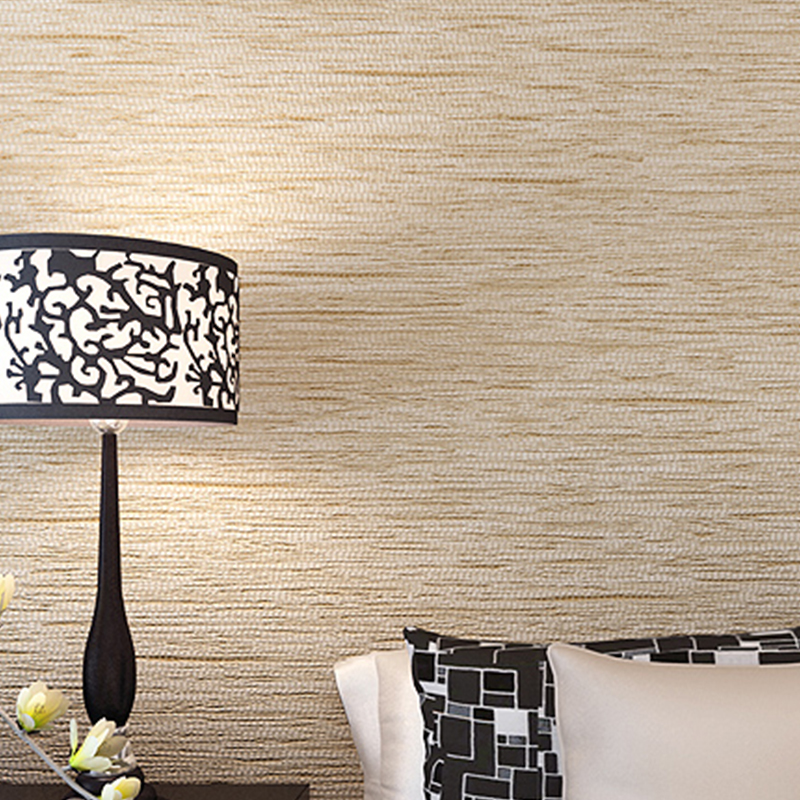Modern design linen grain 10m roll wallpaper nonwoven wall covering wall paper for living room dinning room sofa tv background