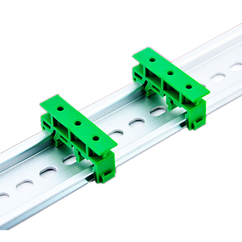 50Pair 35mm Din Rail Type PCB Bracket Panel Mounting Base PCB Circuit Board Bracket Holder Carrier