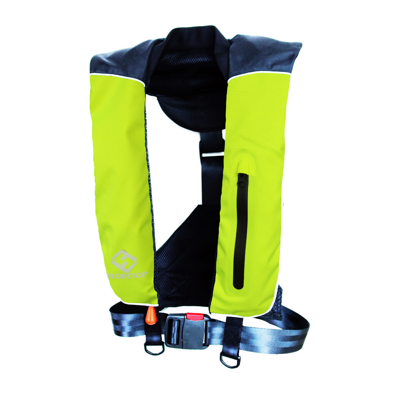 FLOATTOP Adult Automatic Manual Inflatable PFD Life Jacket Life Vest Survival Swimming Boating Fishing 150N Buoyancy 33lbsFLOATTOP Adult Automatic Manual Inflatable PFD Life Jacket Life Vest Survival Swimming Boating Fishing 150N Buoyancy 33lbs
