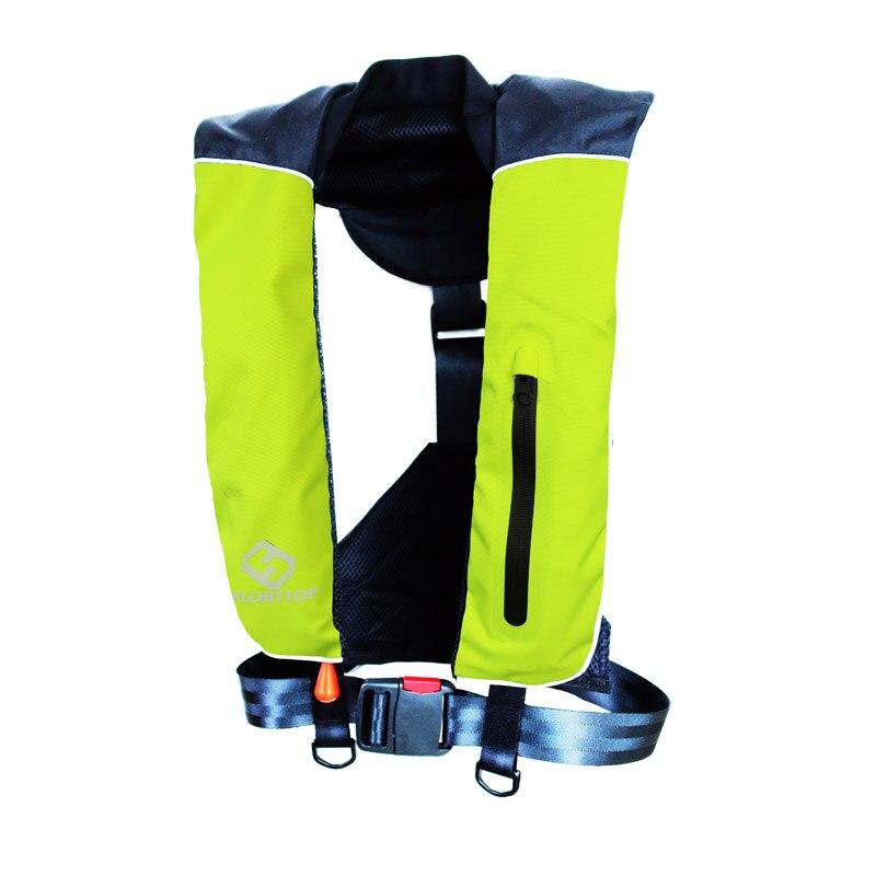 FLOATTOP Adulto Manual Automático Inflável COLETE SALVA-VIDAS PFD Colete Salva-vidas Survival Natação Náutica Pesca Flutuabilidade 150N 33lbs