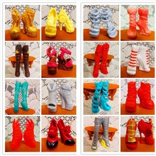 AILAIKI SALE 10Pairs Lot Toy Fashion Shoes For Monster Dolls Beautiful High Heels Monster Doll Sandals