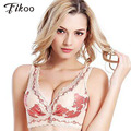 Fikoo Bras Sexy Women's Intimates Deep V Vest Bras For Women Beauty Back Woman Lace Underwear Bralette