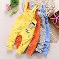 El envío libre 2015 otoño del algodón del bebé guardapolvos ocasionales, niños bebés y las muchachas del mono infantil