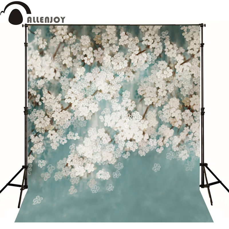Allenjoy photography backdrops Flash white flower hazy beauty photo background newborn baby photocall romantic