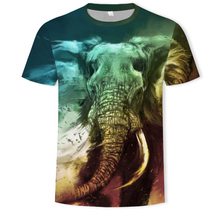 harajuku	 Elephant High Quality The Move Printed 3D T-shirt Punk style 3D Short Sleeve T-Shirt S-5XL Men's T-Shirts cool