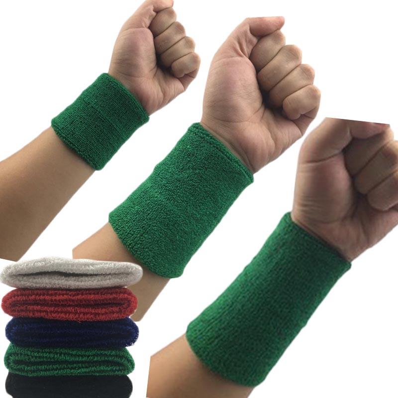 1Pcs Wrist Sweatband Tennis Sport Wristband Volleyball Gym Wrist Brace Support Sweat Band Towel Bracelet Protector 8 /11 /15 cm 1