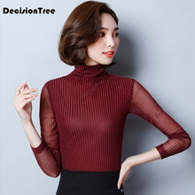 236e8dfcb3b 2019 new women t shirt sexy long sleeve turtleneck velvet t shirt female  tops plus punk