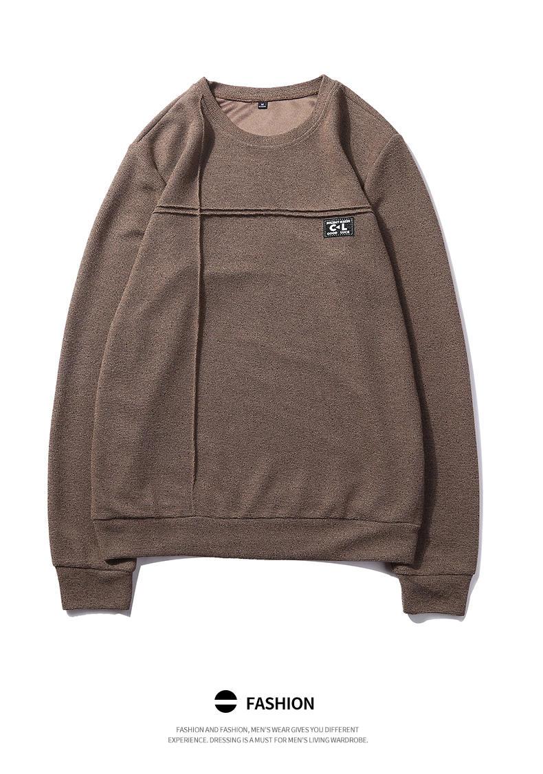 2019 New Fashion Hoodies Shirts Men Sweatshirts Male Solid Hoody Korean Styele O-Neck Autumn Spring Winter Brand Streetwears 06
