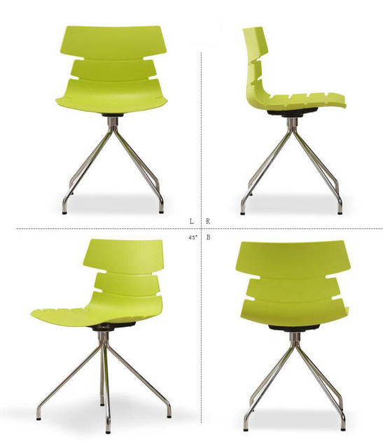 Lanskaya 2 Pieces of Set Plastic Chair Simple Casual Fashion Office Modern Restaurant Tables Chairs Contemporary Dining Chairs