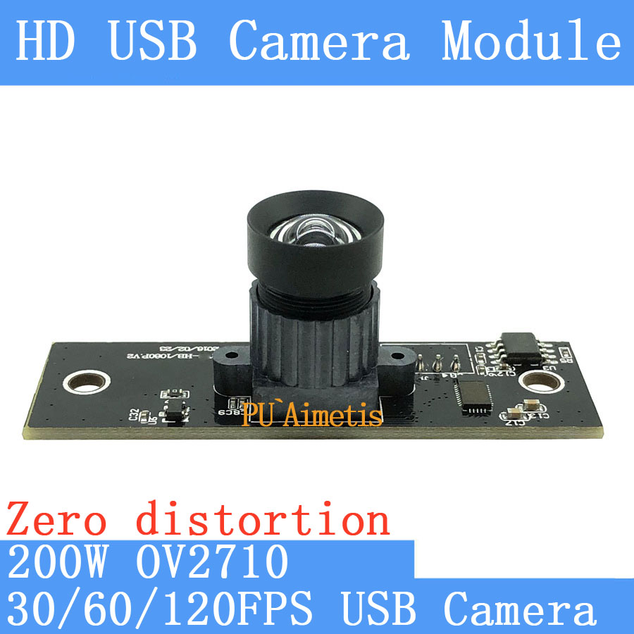 PU`Aimetis 30FPS/60FPS/120FPS No distortion Surveillance camera HD 200W OV2710 1920*1080P Android Linux UVC USB camera module