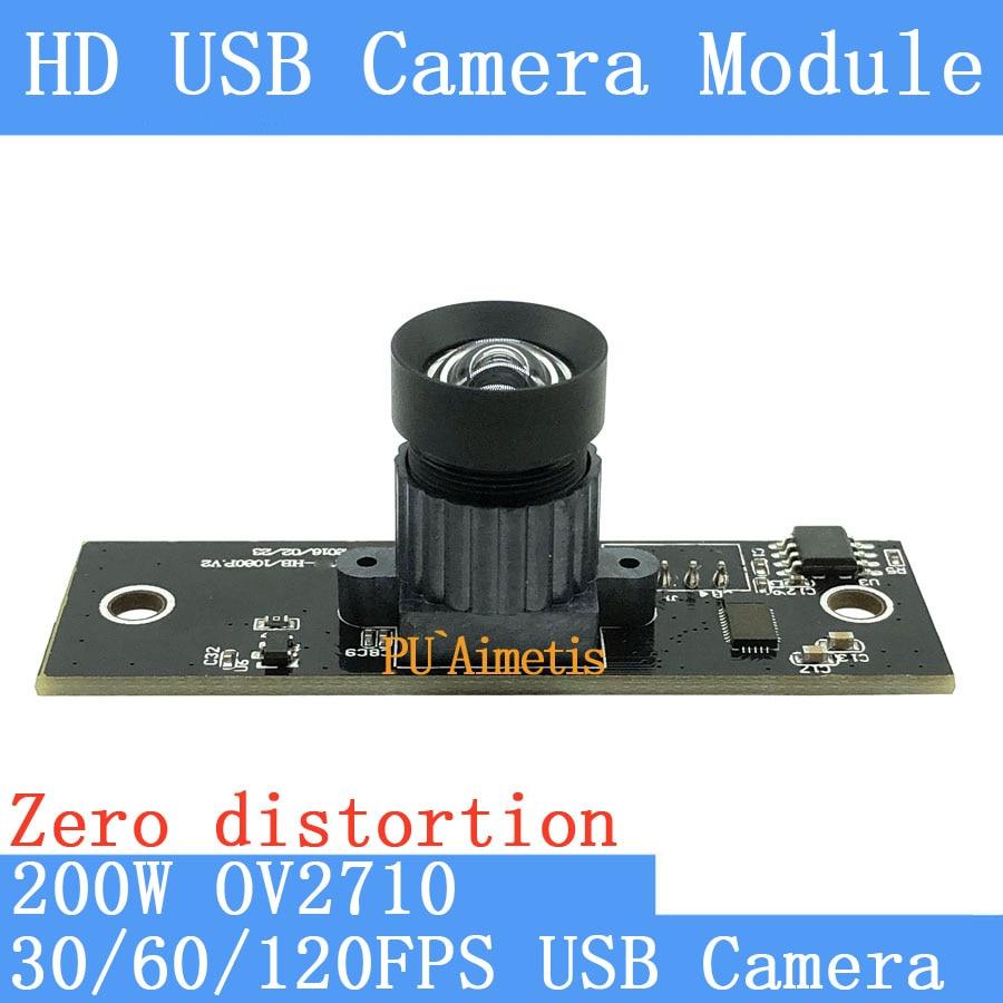 PU`Aimetis 30FPS/60FPS/120FPS No distortion Surveillance camera HD 200W OV2710 1920*1080P Android Linux UVC USB camera module flight fps 17