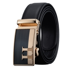 men`s leather fashion Luxury brand belt Genuine cowhide Luxury high quality alloy buckle belts for men