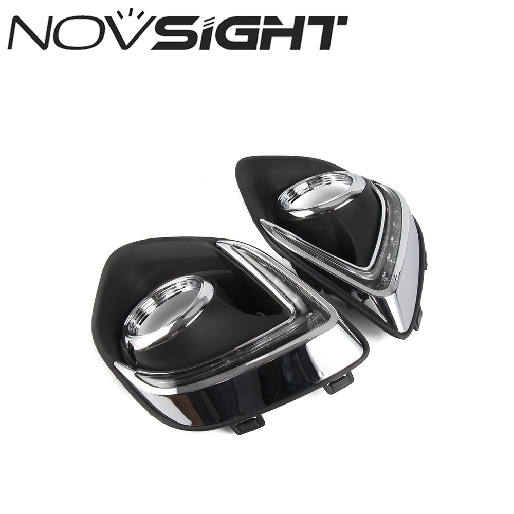 NOVSIGHT Daytime Running LED Light Car Day Fog Light Lamp DRL Super Bright For Mitsubishi ASX 2013-2014 miumiu car drl daytime running light car day lights assembly 8 led super bright work light bar fog lamp floodlight white