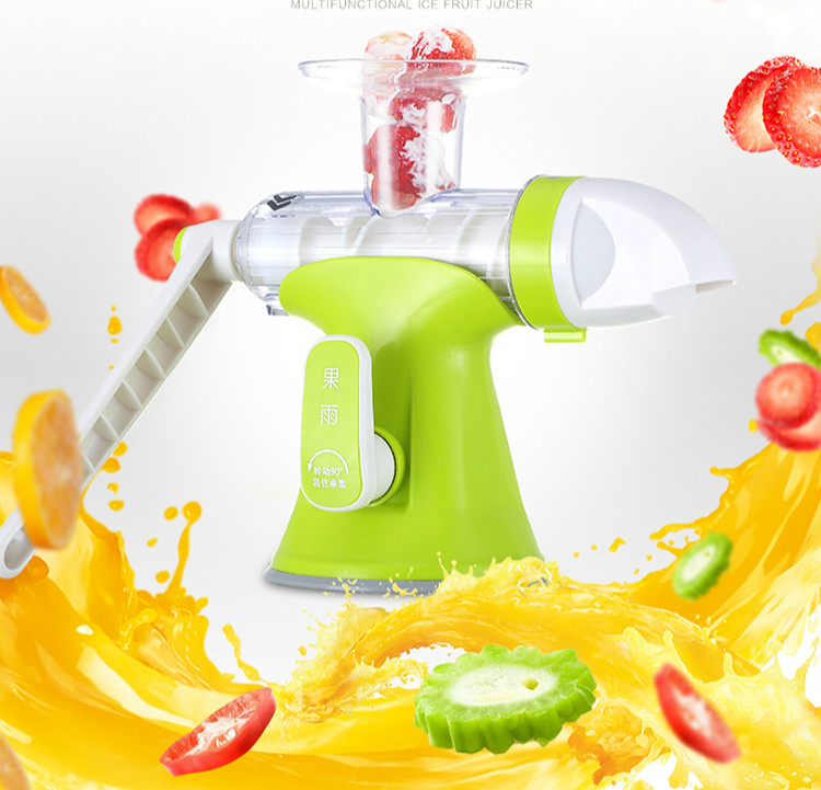 Portable Mini Manual Multi Juicer Machine Ice Cream Machine Household Hand Juicer Fruit Grinder Machine No Electricity