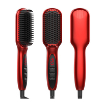 Hair Brush Straightening Brush Electric Hair Straightener Heating Ceramic Comb 110V/220V