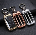 high quality leather key ring car aluminium alloy key cover shell For Land Range Rover/Discovery/Evoque For Jaguar All Series