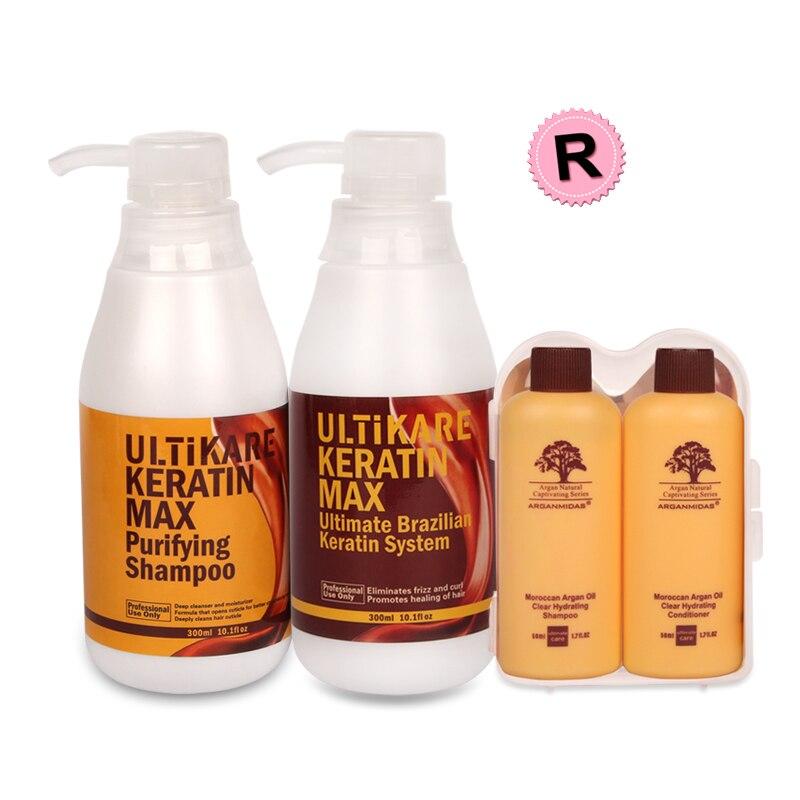 купить Suitable Size 300ml Purifying Shampoo+300ml Brazilian Keratin Hair Treatment 12% Formalin Straighten Resistant Hair+Free Gifts по цене 4771.06 рублей