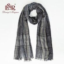 Luxury brand silk women scarf plaid soft cotton scarves fema
