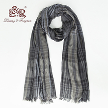 Luxury brand silk women scarf plaid soft cotton scarves female shawl Foulard hijab wraps bandana men