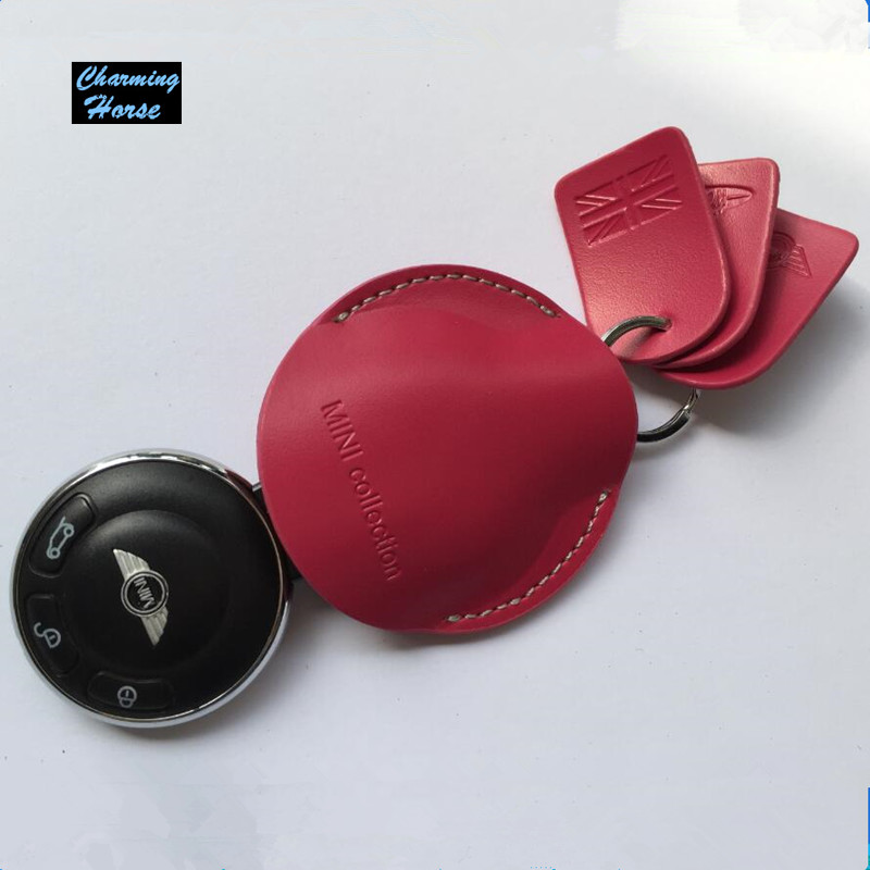Car Genuine Leather Key Bag Case Cover Holder For BMW Mini Cooper Convertible R55 R56 R57