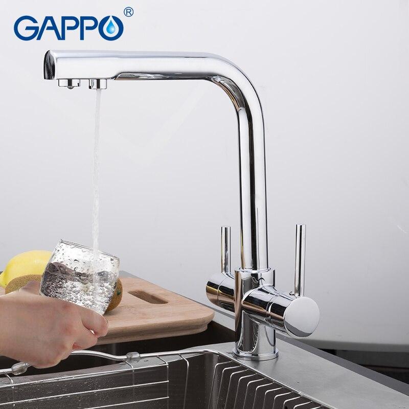 GAPPO Torneira Da Cozinha filtro de água da torneira torneira da pia da cozinha misturador de água guindaste torneira da cozinha de Bronze Misturador torneira com água filtrada
