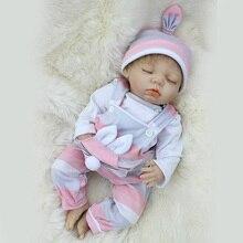 Lifelike Silicone Renascer Bebê Menina Crianças Playmates Brinquedo Casa de Bonecas Bebe Reborn de 18 Polegada de Dormir Menino SDK-81R2 Brinquedos para Meninas