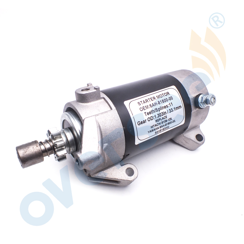 6AH-81800-00 Outboard  Start Motor Assy For Yamaha Outboard Engine 15HP 20HP 4 Stroke 6AH-81800