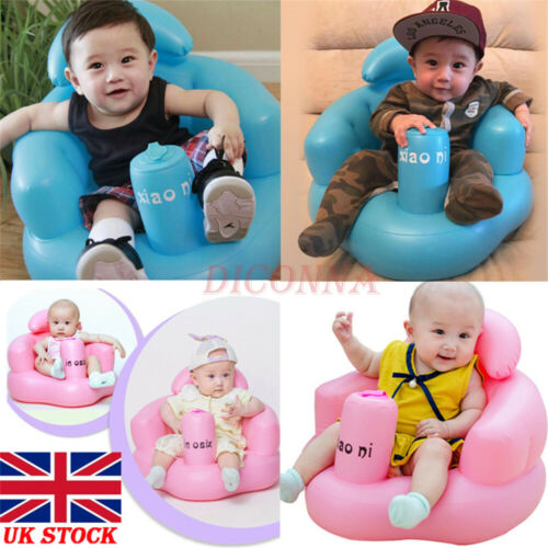 UK Baby Inflatable Seat Aid Swimming Pool Float Bath Stool Swim Trainer Swim Toy