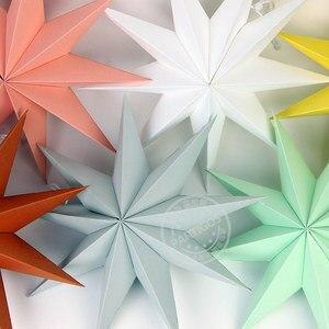 1 шт., бумажные украшения со звездами и девятью звездами, бумажные украшения со звездами, свадебные украшения, вечерние принадлежности, деко...