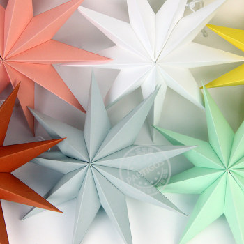 1pcs paper stars Nine-star decoration Nine-pointed star wedding decor party supplies elegant room - discount item  30% OFF Festive & Party Supplies