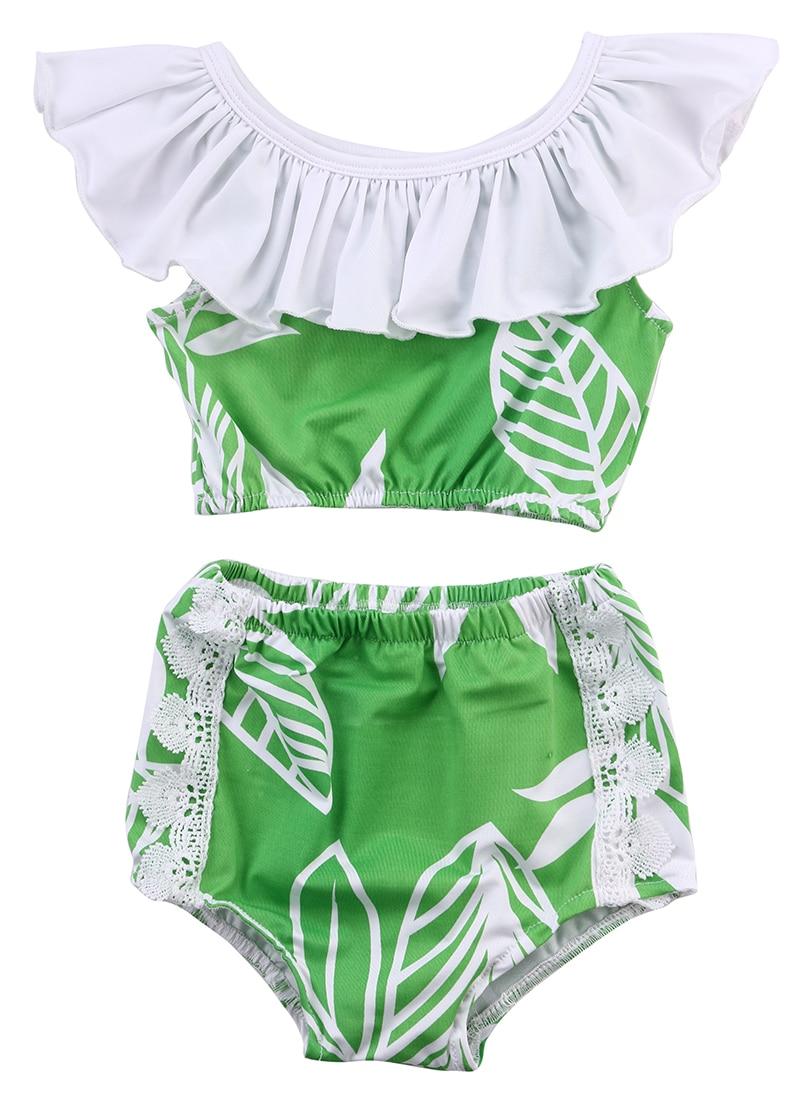 2016 Hot Sale 2pcs Baby Girls Tankini Sleeveless Bikini+short Pants Swimwear 100% High Quality Materials