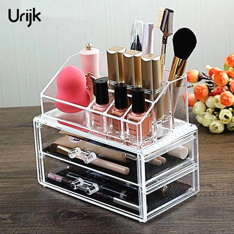 Urijk Acrylic Makeup Organizer Storage Boxes Make Up Organizer For Cosmetics Organizer Storage Drawers Organizer Boxes