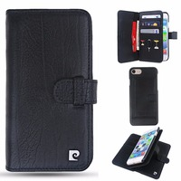 Genuine Leather Wallet Case For Iphone 7 Original Pierre Cardin Flip Cover With Credit Card Slot