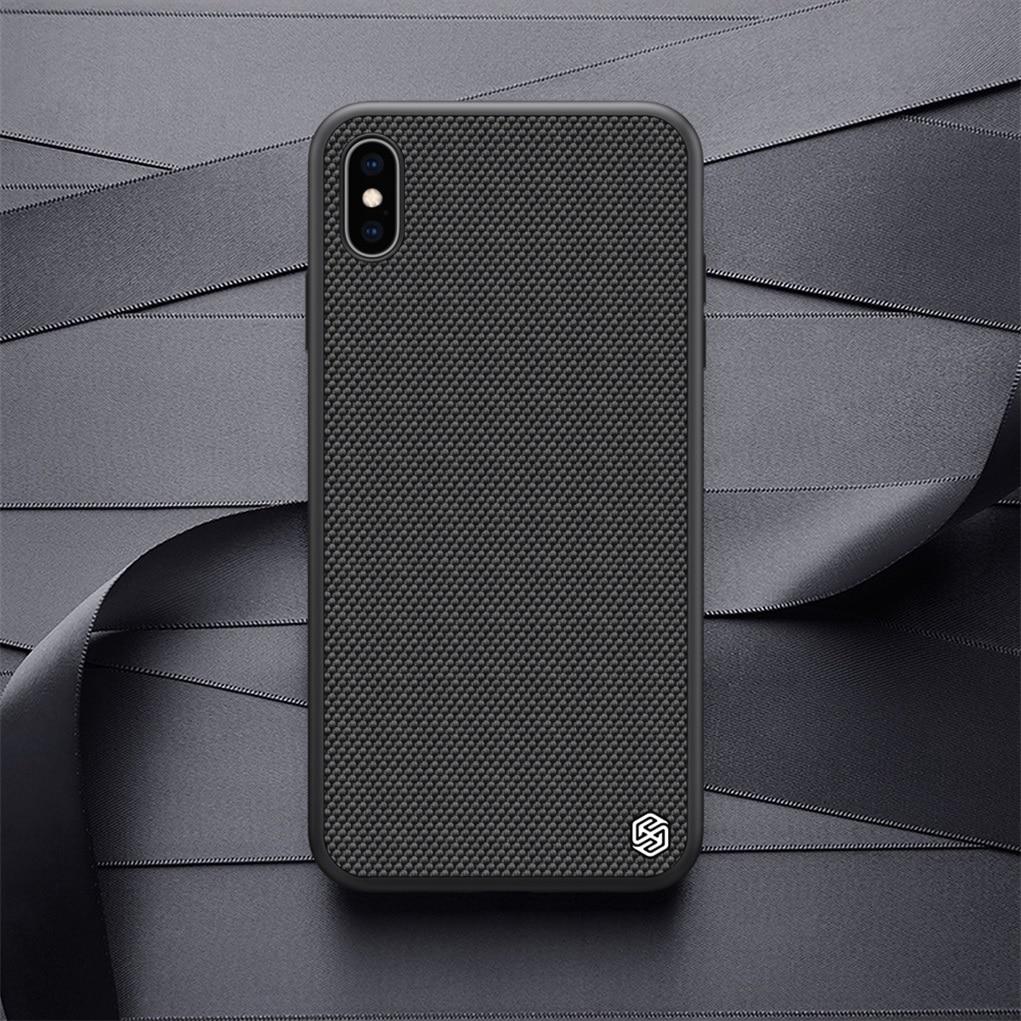 Nillkin Case Voor Iphone Xs Max /Xr Geweven Nylon Fiber Case Back Cover Voor Iphone Xs /Xs Max duurzame Antislip Dunne En Licht