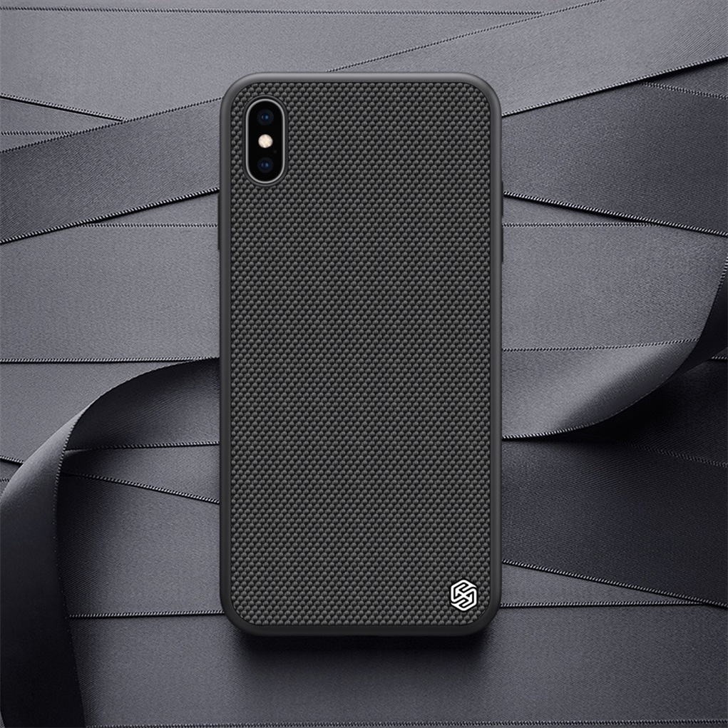 Nillkin Case for iphone XS Max / XR Textured Nylon fiber case back cover for iphone XS / XS MAX durable non slip Thin and light|Fitted Cases| |  - title=