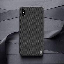 Nillkin caso para iphone xs max/xr texturizado fibra de náilon caso capa traseira para iphone xs/xs max durável antiderrapante fino e leve