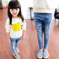 2015 muchachas del otoño del resorte niños Jeans vaqueros niños pantalones moda informal vaqueros pitillo niños ropa de bebé ocasional pantalones pantalones 3-8Y