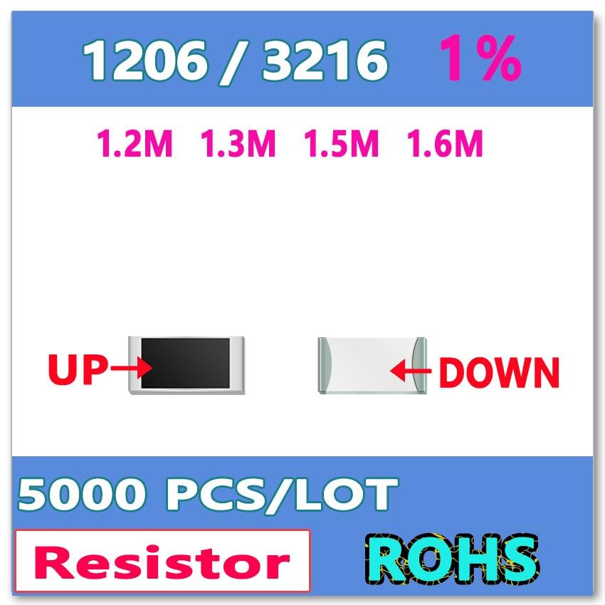 JASNPROSMA JASNPROSMA OHM 1206 F 1%5000pcs 1.2M 1.3M 1.5M 1.6M smd 3216  Resistor