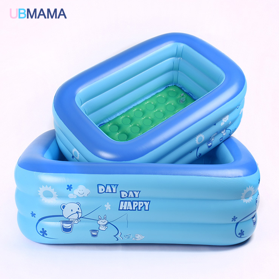 Plastic inflatable square pool children baby baby play pool inflatable bathtub inflatable square swimming pool household pool bestway round baby pool baby wading pool thick folder mesh stent pool children bathing pool 152 38cm