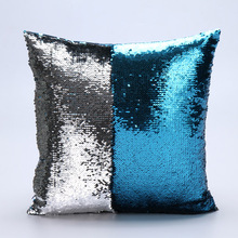 Factory selling two tone sequins throw pillows and covers continental mermaid decorative pillow cushion case sofa car DIY case