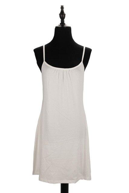 Plus Size Sexy Women's Full Slips Solid Cotton Spaghetti Strap Petticoat Ladies Under dress Female Women Slip Summer Vestidos 1
